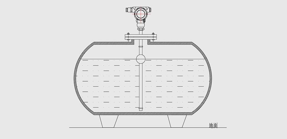 浮球液位计地上罐安装图