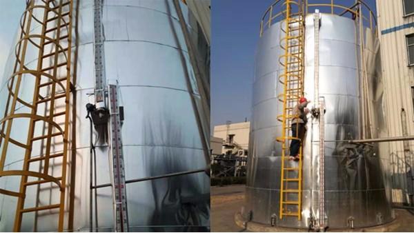 陕西焦化厂氨水罐磁翻板新宝5注册流程面板不翻现场处理。